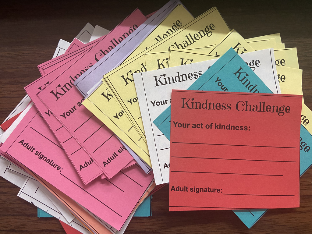 The Kindness Challenge cards