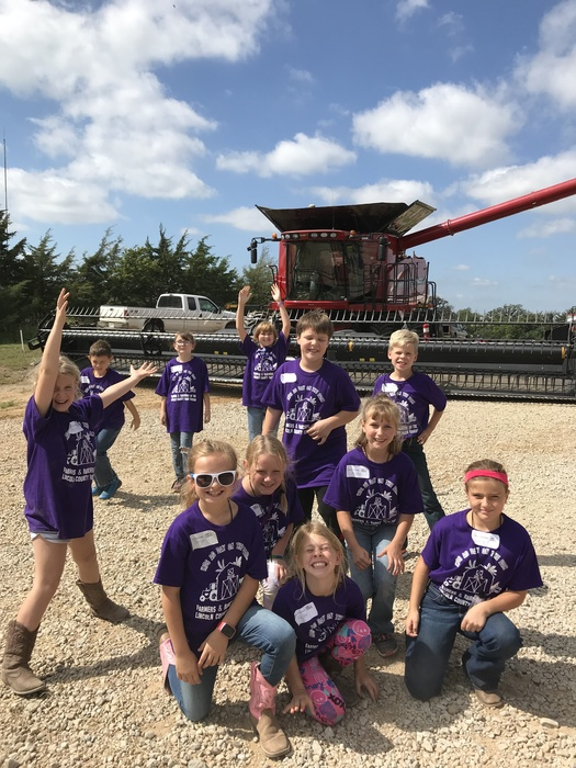 Mrs. Cavalli's class at Kids Ag Day on the Farm