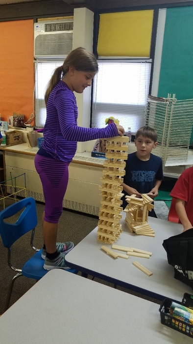 building with Keva blocks