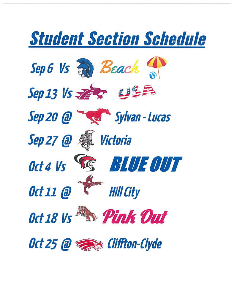 Student Section Schedule